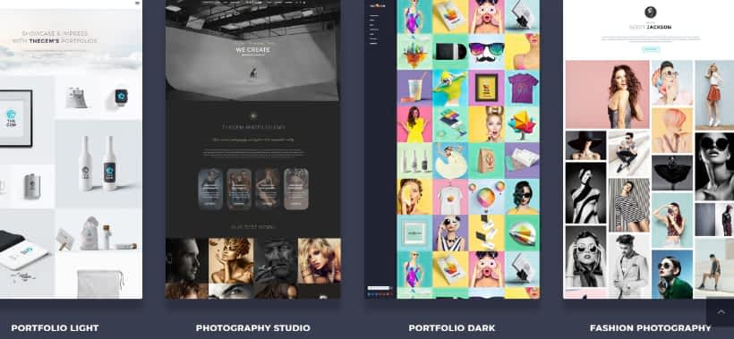photography website building templates