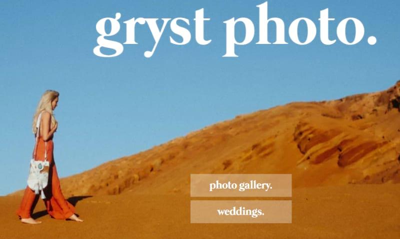 photography website Gryst Photo
