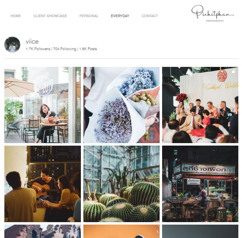 photography website PichitPham