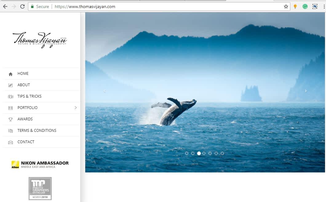 photography website example thomas Vijayan