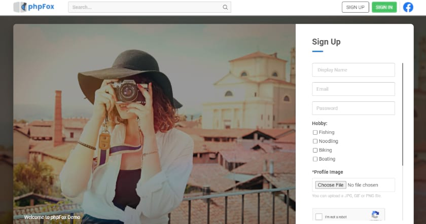PHPFox Social networking screenshot