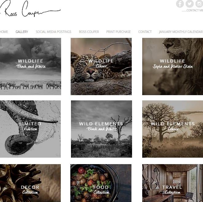 rosscouper Photography website