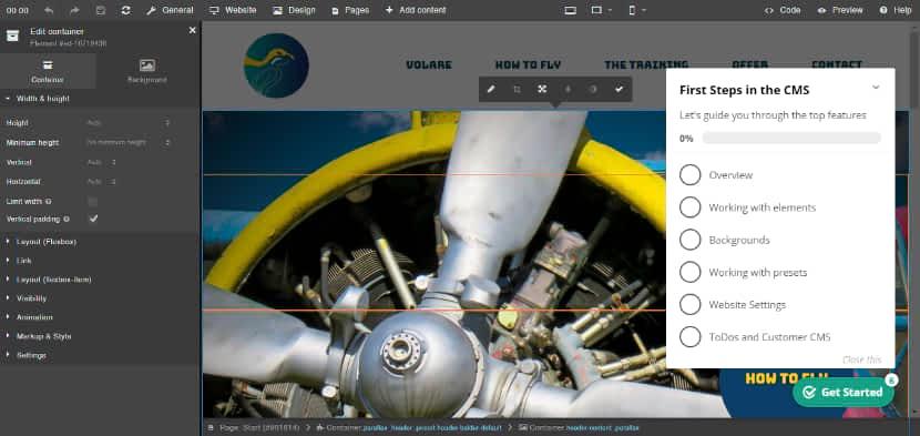 sitejet website editor