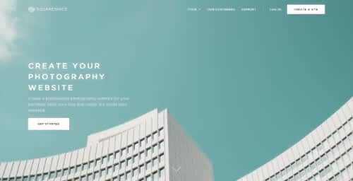 Squarespace photography