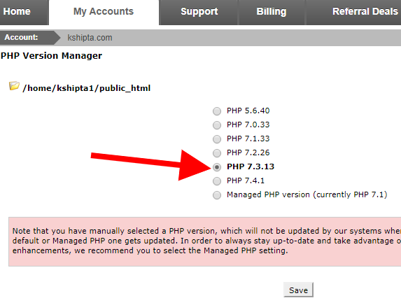 update php as Mediawikis requirement