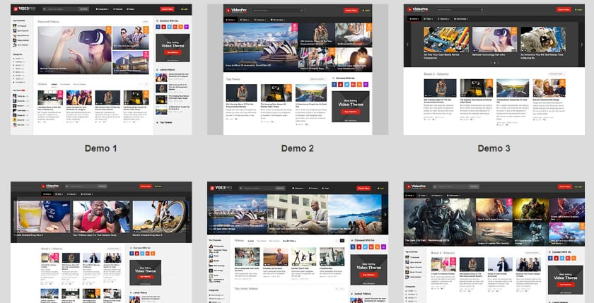 Videopro theme screenshot