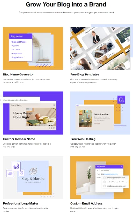wix blog main features