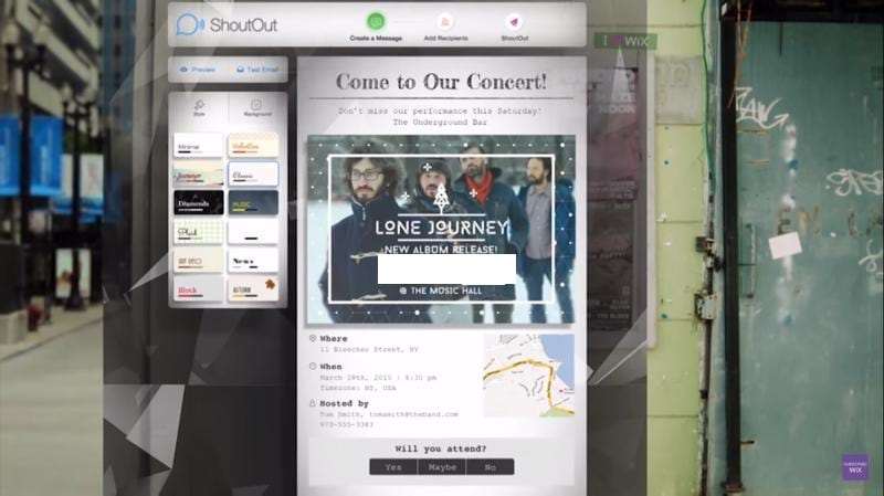 wix music promotion
