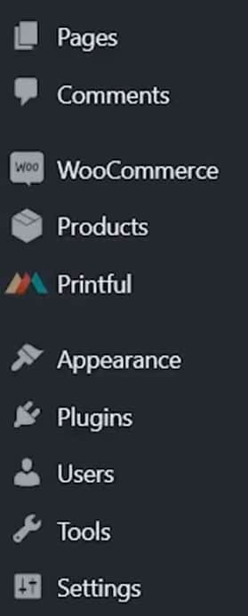 woocommerce and printful settings connect it