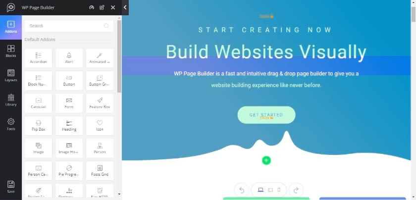 WP Page Builder Screenshot