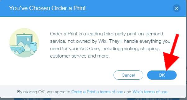 you have chosen selling both digital & physical print